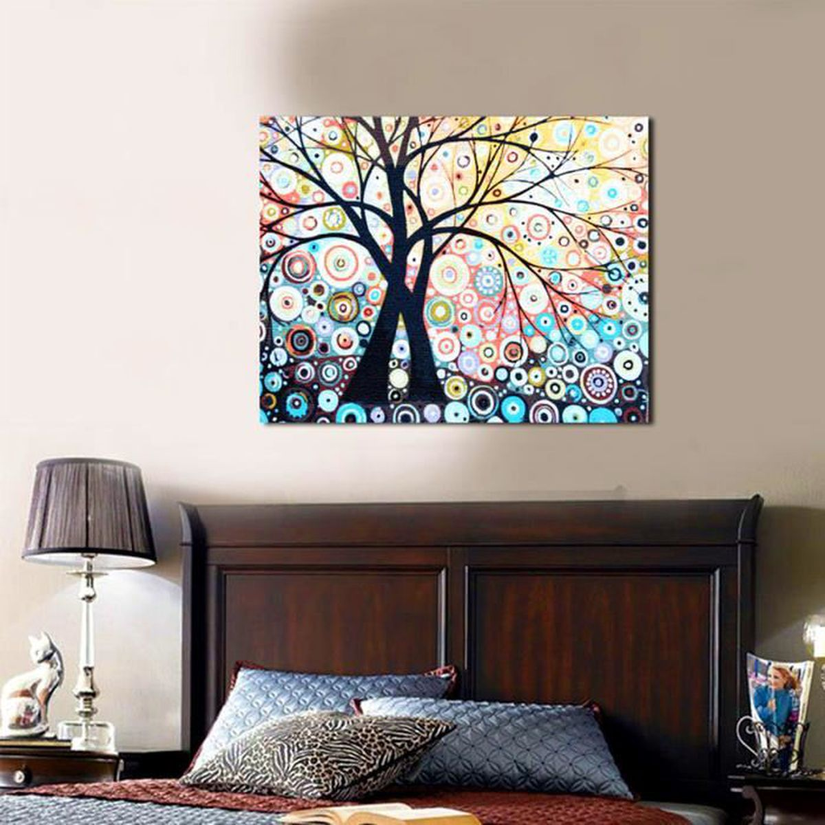 set tableau peinture huile painting arbre diy abstraite moderne art d cor mur achat vente. Black Bedroom Furniture Sets. Home Design Ideas