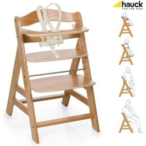 CHAISE HAUTE  HAUCK Chaise Haute en Bois pour bébé Évolutive Alp