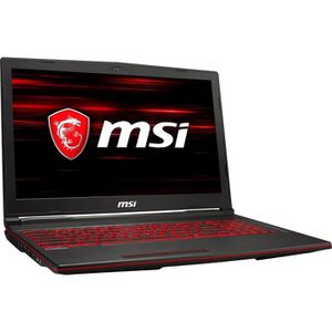 ORDINATEUR PORTABLE PC Portable Gamer - MSI GL63 8SE-079XFR - 15,6