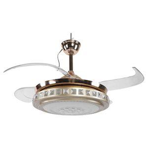 VENTILATEUR DE PLAFOND Ventilateur de Plafond Silencieux avec Lumière, Lu