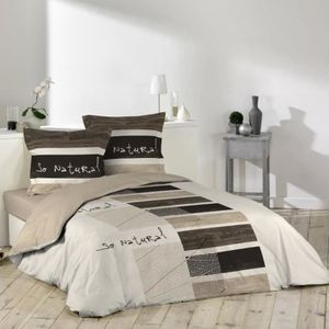 housse de couette 240x260 taupe achat vente pas cher. Black Bedroom Furniture Sets. Home Design Ideas