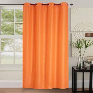 RIDEAU Paire de rideaux occultants double face - Orange -