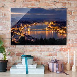 CADRE PHOTO 80x120 cm verre image - vue de budapest - cross 2: