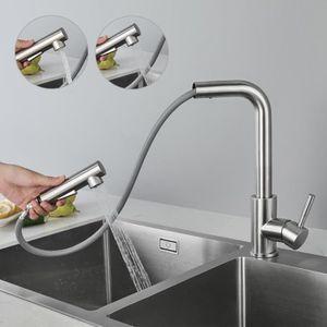 ROBINETTERIE DE CUISINE Auralum® Robinet  Mitigeur Cuisine d'Éviers 360° P