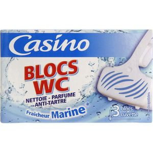 NETTOYAGE WC Bloc WC solide Marine - 3 x 38 g