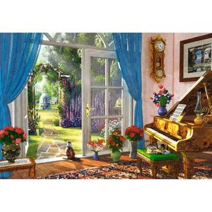 PUZZLE Castorland Doorway Room View, Jigsaw puzzle, Art,