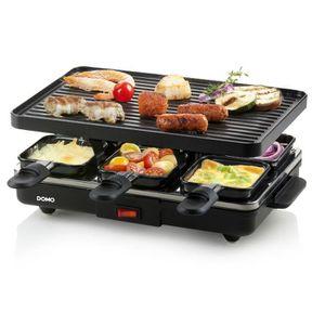 APPAREIL À RACLETTE Appareil à raclette 6 personnes 800w + grill - DO9