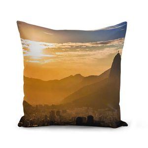 HOUSSE DE COUSSIN Housse de Coussin 40x40 cm Leve de Soleil Sur Rio