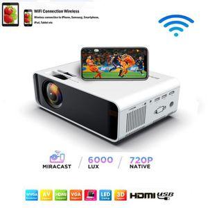 Vidéoprojecteur FULOZO® Mini Projecteur Wi-Fi - LED Projecteur Por