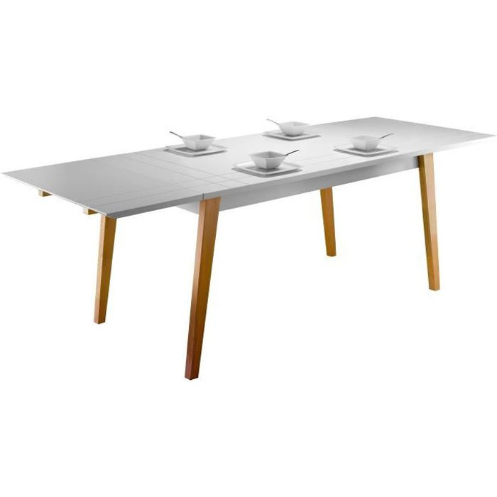 London table manger extensible 6 8 personnes plateau for Table extensible 6 a 8 personnes blooma