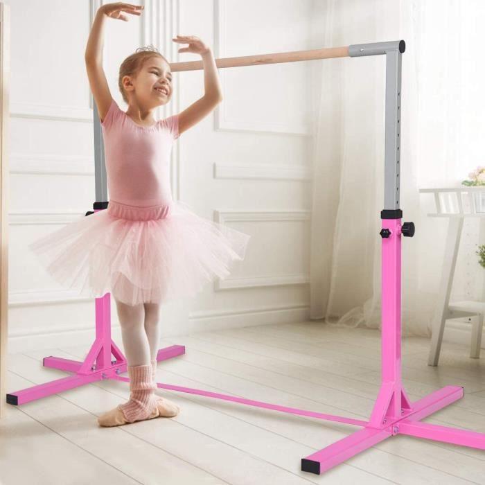 Barre d'Entraînement de Gymnastique en Acier,Barre Horizontale Hauteur Réglable 94-150 CM pour Exercices à l'Intérieur,Ecole,Maison