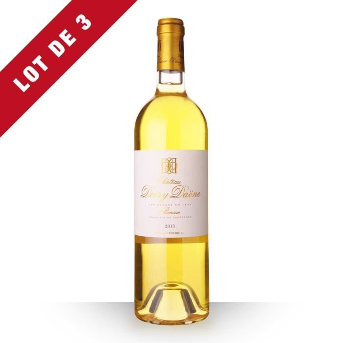3x Château Doisy-Daëne 2013 AOC Sauternes - 3x75cl - Vin Blanc