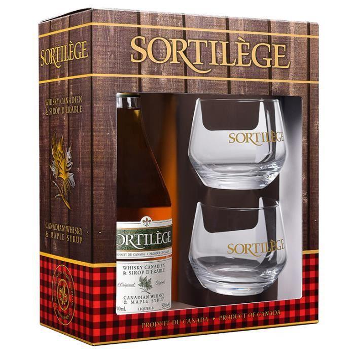 Coffret cadeau Sortilège whisky Original 700 ml/30° + 2 verres gravés