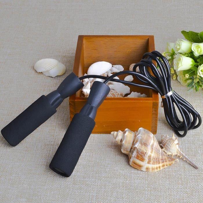 5 couleurs portant sauter corde corde vitesse Fitness aérobie saut équipement d'exercice réglable bo - Modèle: black - HSJSTSA09147