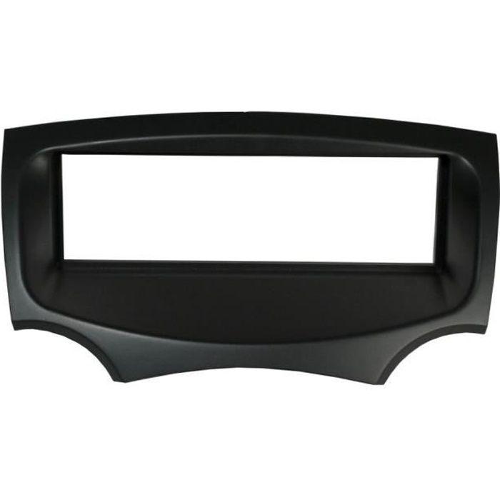 Adaptateur de façade d'autoradio simple DIN Noir Ford KA 2009 >