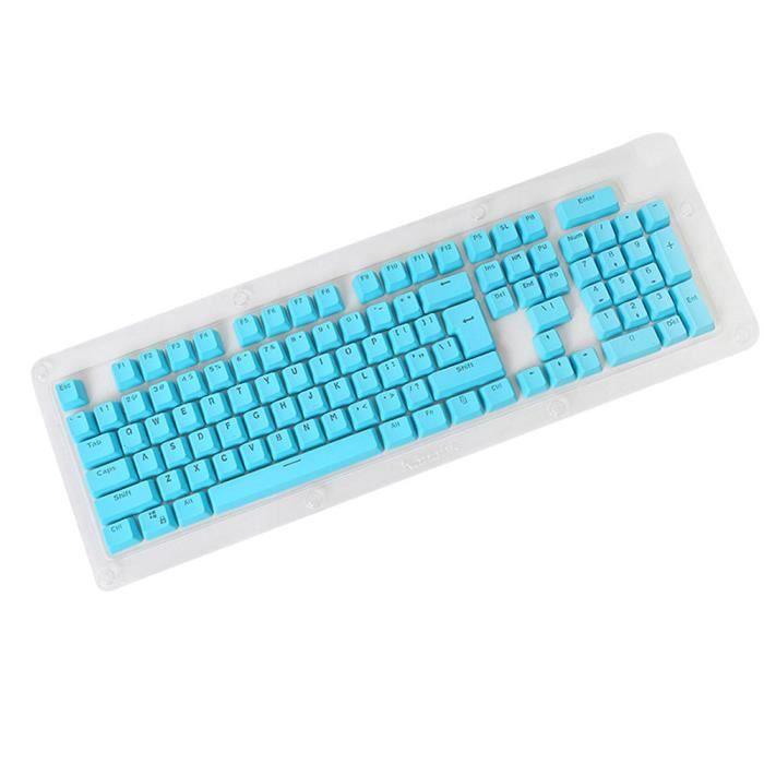 bleu Clavier 104 touches Pbt, protège clavier Pour clavier cherry Kailh Gateron Outemu
