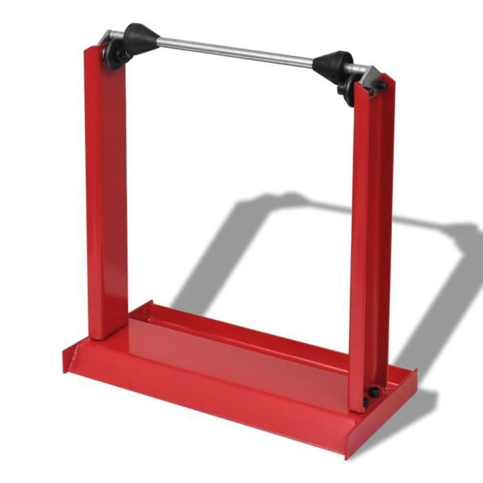 Chez-5629Super Equilibreuse pour Roue de Moto Professionnelle Rouge Outil de Garage Rouge