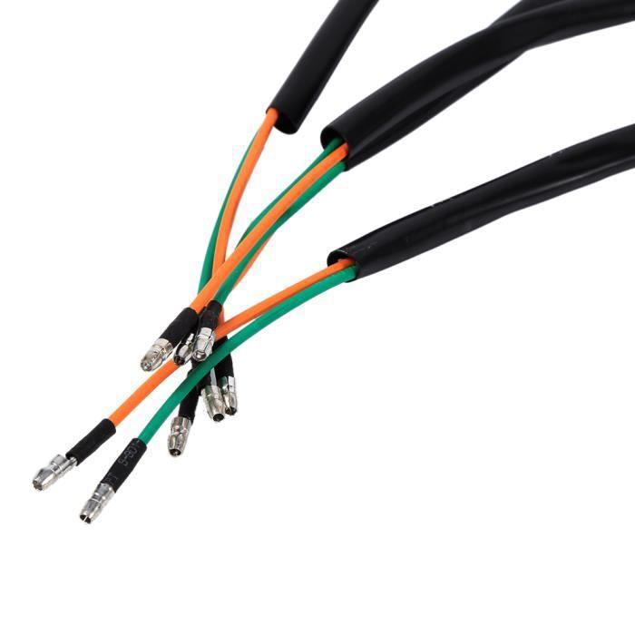 4pcs clignotants lumière moto universels indicateurs de moto clignotant ampoule ambre 12V