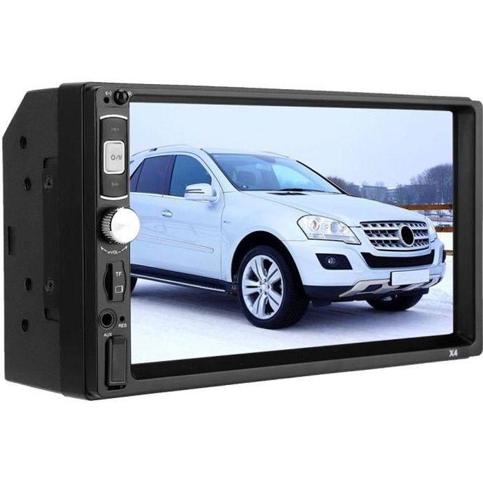 Autoradio Double Din 7 pouces, autoradio Double Din à écran tactile, compatible avec BT TF USB MP5/4/3 Player FM, prise en charge