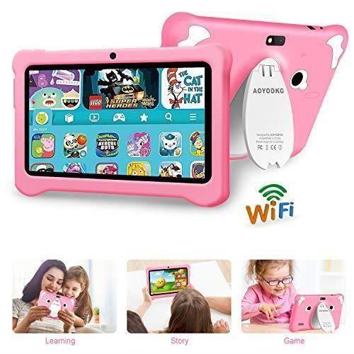 Tablette tactile Enfant,Tablette Enfant 7pouces , Android 9.0 Certifié par Google GMS , Tablette pour Enfant 3Go RAM +32Go (Rose)