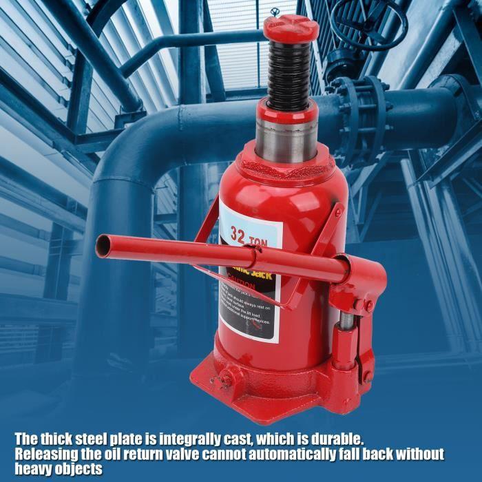 32T cric de bouteille hydraulique outils de l'automatique outils lever 32 tonnes capacité réparation de voiture HB044