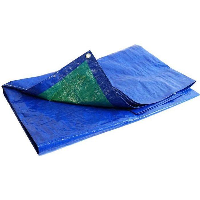 BACHES DIRECT - Bache de protection 150 g/m² - 4 x 5 m - bache plastique - bache exterieur - bâches étanches - bache bois - prote...