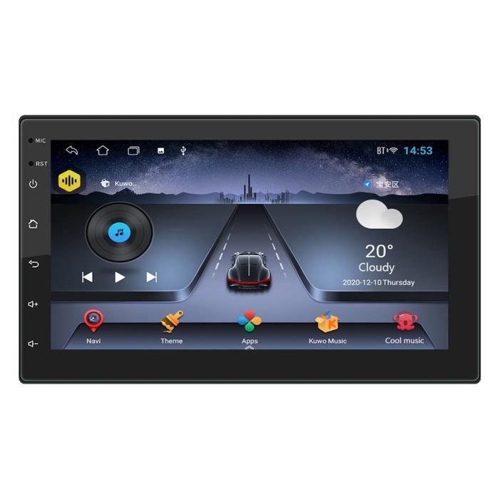 Une no cam Autoradio Double DIN Android 10.1, Quad Core, lecteur multimédia vidéo, 2DIN, GPS, WiFi, Bluetooth