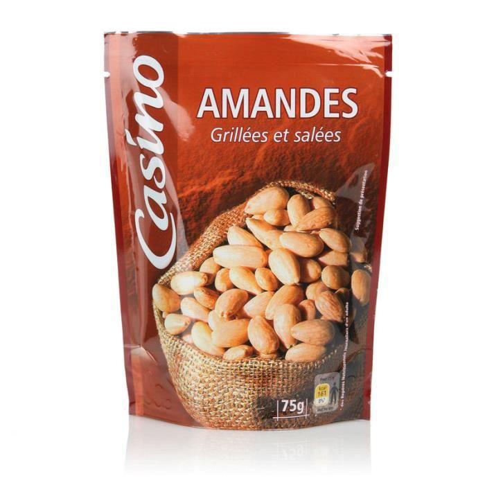CASINO Amandes Grillées et salées - 75 g