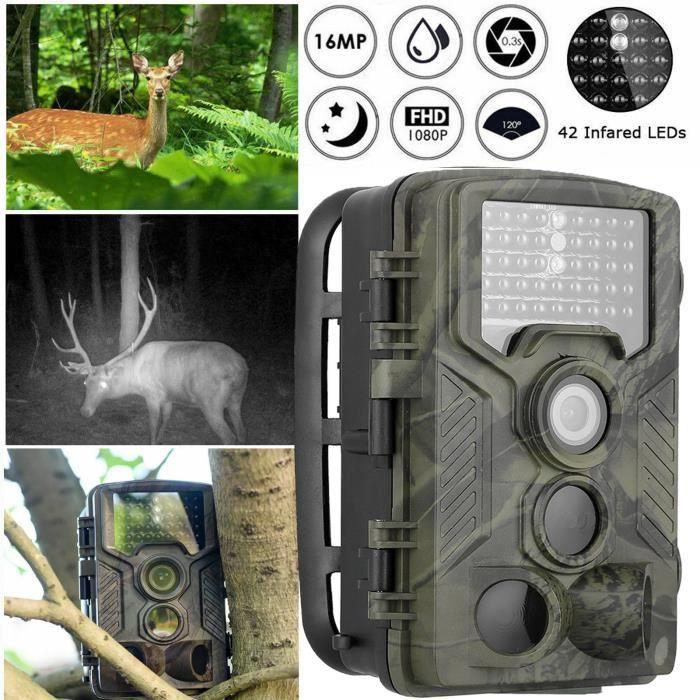 Caméra de chasse 1080p HD 42 LED infrarouge vision nocturne infrarouge chasse caméra de surveillance IP56 caméscope extérieur étanch