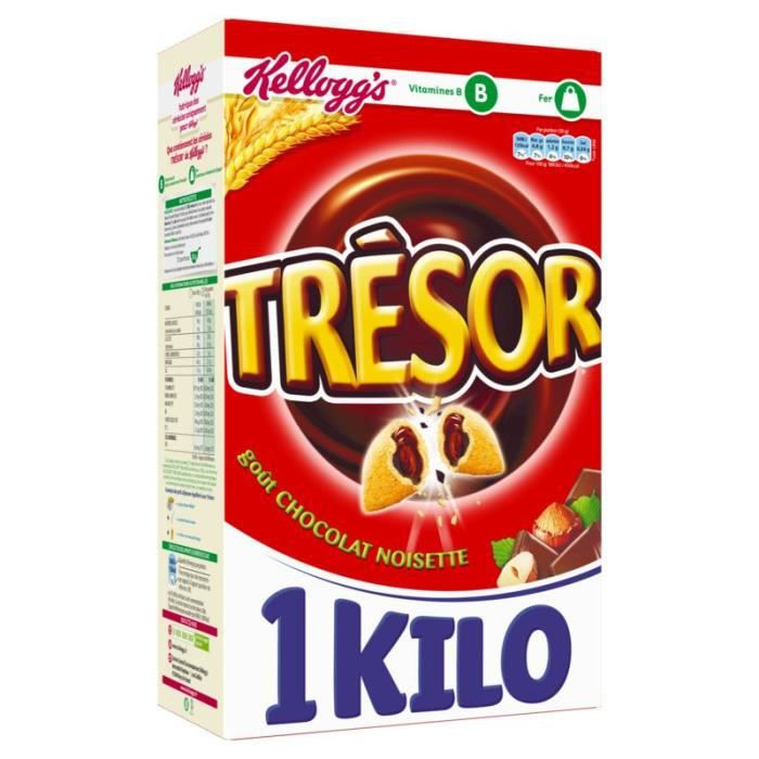 KELLOGG'S Trésor chocolat noisette - 1 kg