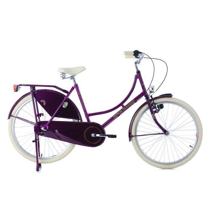 Vélo hollandais 26'' Dame Dutch Classic 3 vitesses pourpre TC 48 cm KS Cycling