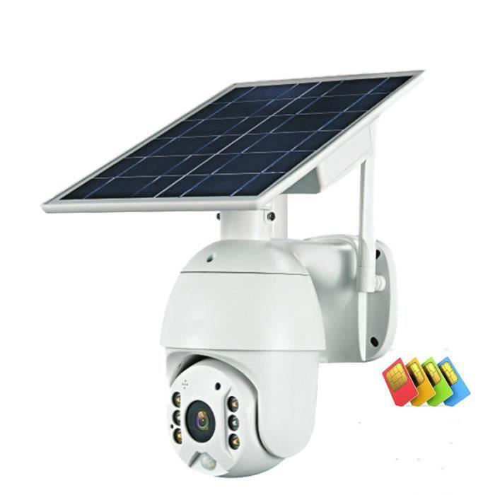 WIFI 1080P panneau solaire caméra étanche sécurité PTZ Surveillance intelligente ferme Ranch forêt longue veille