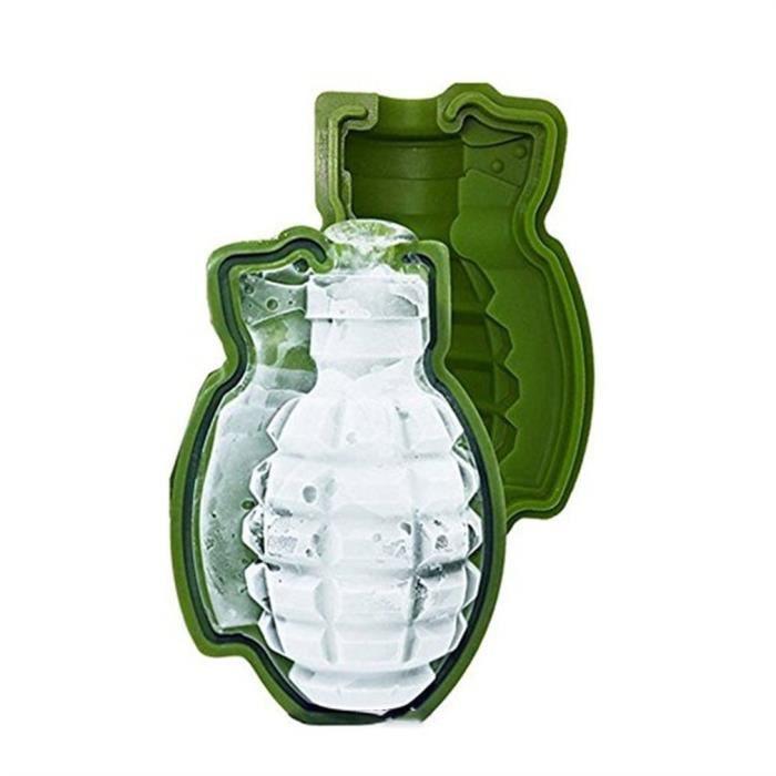 3d Grenade Forme Ice Cube Moule, Moule à gâteau en silicone, Moule à plateaux de glace pour une barre de cadeau de fête