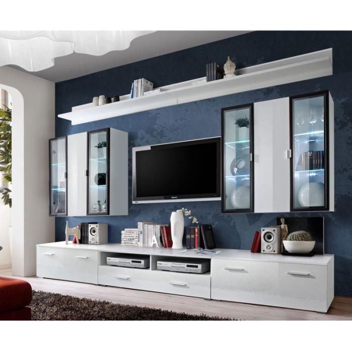 Meuble Tv Mural Design -iceland- 300cm Blanc - Paris Prix