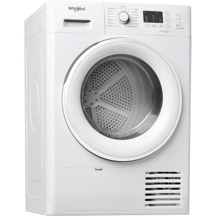 Sèche-linge pompe à chaleur WHIRLPOOL FTM1081FR FreshCare - 8 kg - Classe A+ - Blanc