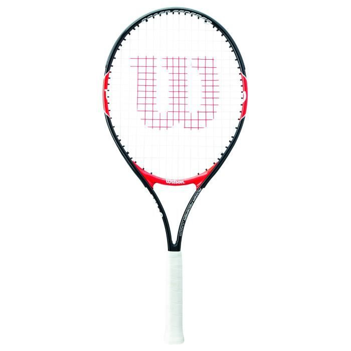 Wilson Raquette de Tennis pour Enfants, Roger Federer 25, Taille 9-12 ans, Rouge-Noir, WRT200800