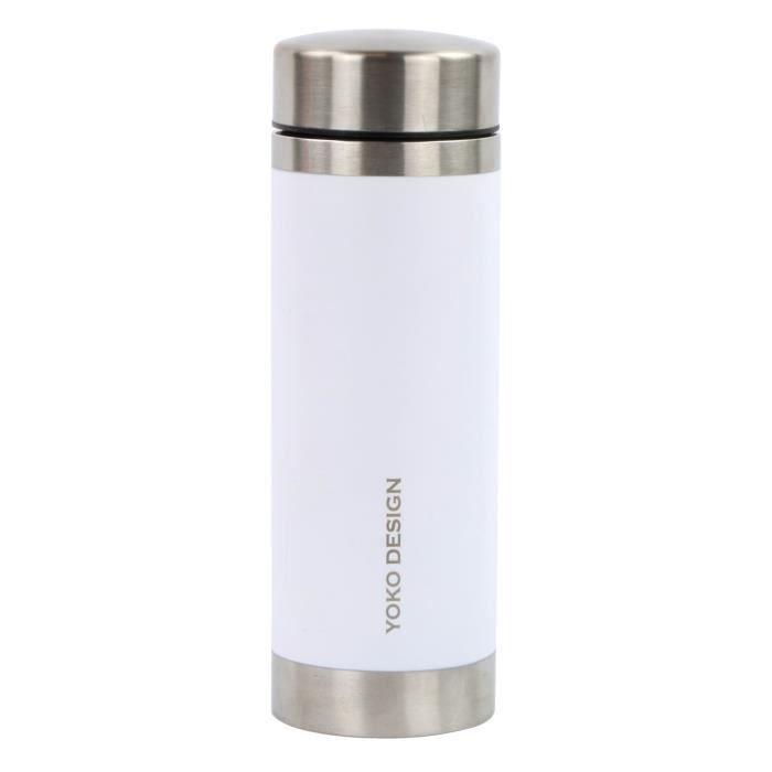 YOKO - théiére isotherme 350 ml blanche à double paroi en inox