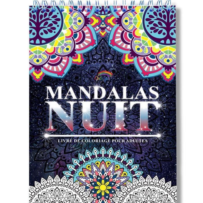 Coloriage Adulte Mandala De Nuit Anti Stress Le Premier Cahier De Coloriage Mandala Avec Papier Noir Artiste Et Reliure Spirale Achat Vente Jeu De Coloriage Dessin Pochoir Cdiscount