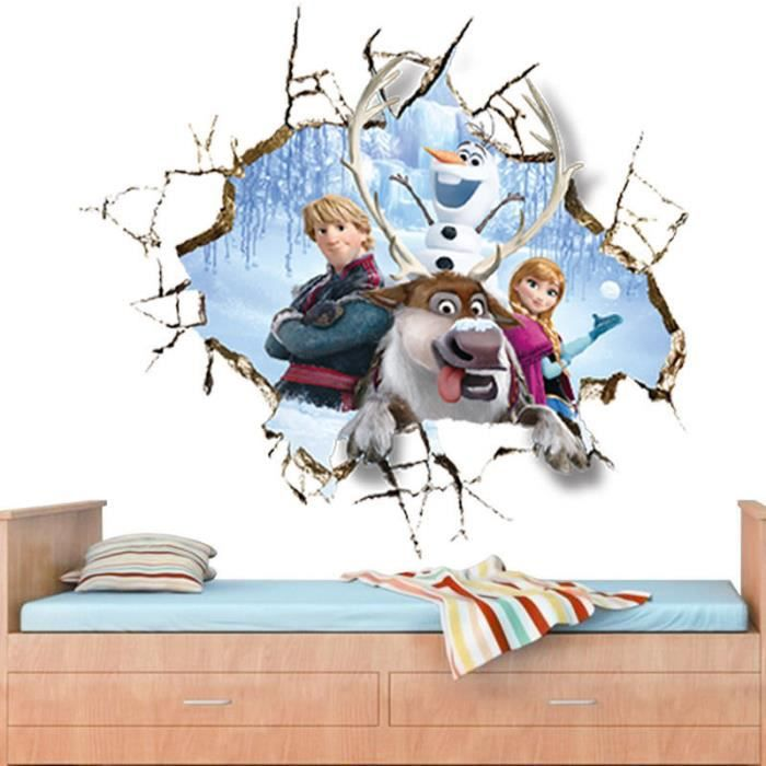 Sticker mural reine des neiges achat vente stickers for Chambre reine des neiges