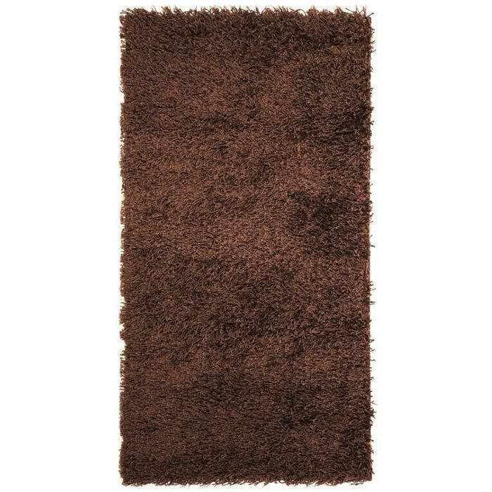 tapis shaggy descente de lit longue m che chocolat achat vente tapis soldes d hiver d s. Black Bedroom Furniture Sets. Home Design Ideas