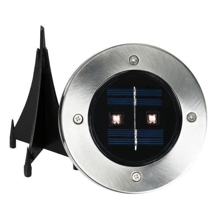 LAMPE DE JARDIN  Solar 2 LED extérieur chemin lumière spot lampadai