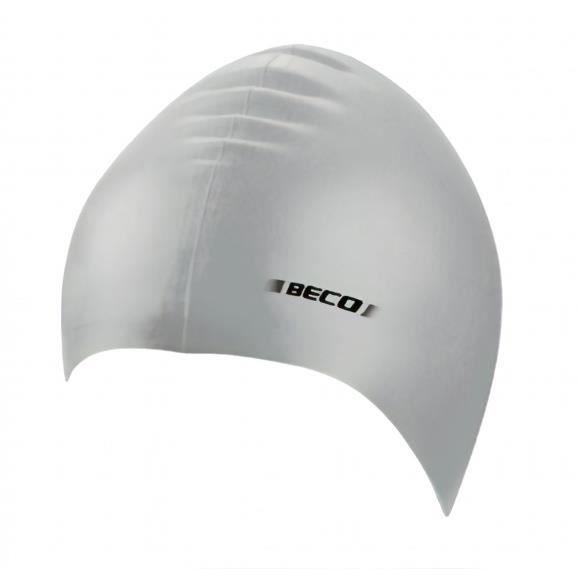 BONNET PISCINE- CAGOULE Beco bonnet de bain unisexe silicone argent taille