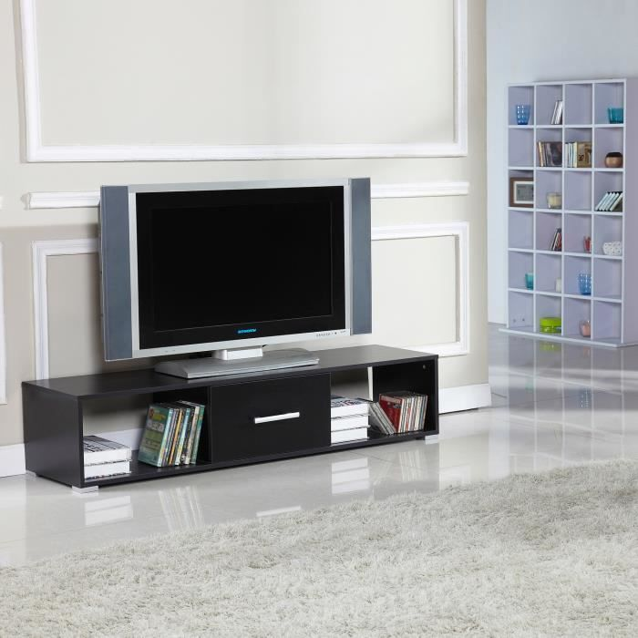 meuble tv bas table armoire basse avec tiroir meuble de. Black Bedroom Furniture Sets. Home Design Ideas