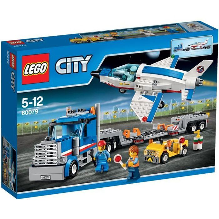 lego city 60079 le transporteur d 39 avion achat vente assemblage construction cdiscount. Black Bedroom Furniture Sets. Home Design Ideas