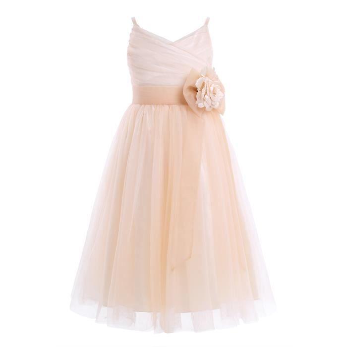 Robe de cérémonie -Tulle filles bébé Princesse