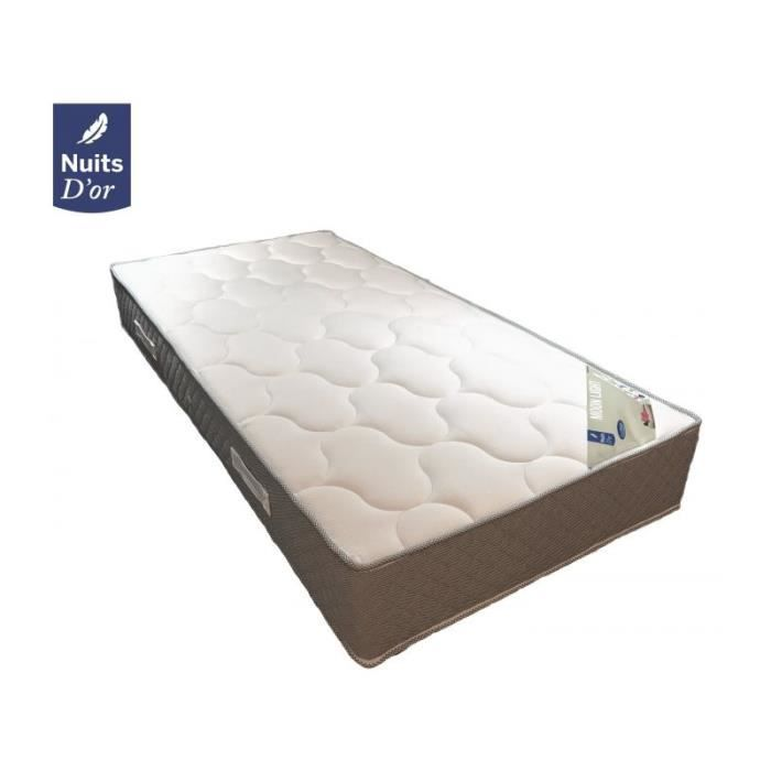 moon matelas densit 35 kg m3 hauteur 24 cm soutien tr s ferme orthop dique 120x200. Black Bedroom Furniture Sets. Home Design Ideas