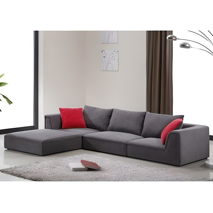 Canap modulable en tissu houston gris achat vente canap sofa diva - Canape modulable but ...