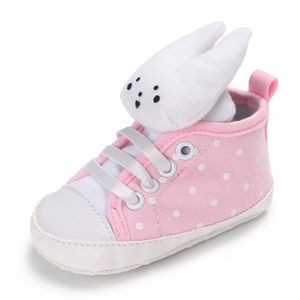 BOTTE Toddler bébé fille douce semelle de coton chaussures à lacets casual baskets lapin@Gris 9Wiaeq2n0c
