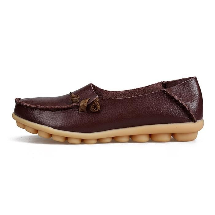 Comfort Walking Cute Flat Loafer LEWT0 Taille-42