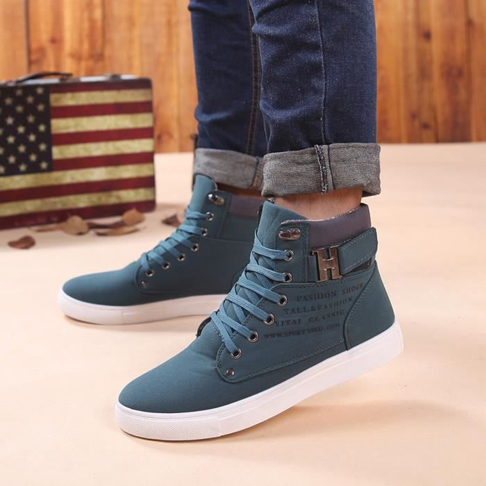 Casual Chaussures Sneakers Haut GNvert Chaussures Chaussures Oxfords Mode Haut WE156 Hommes qCWFxnZ